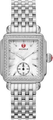 Michele Deco Mid Diamond Bracelet Watch