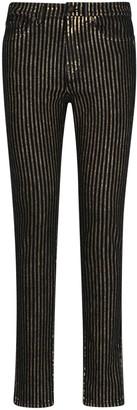 Saint Laurent Embellished Striped Jeans