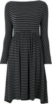 Jil Sander Navy Striped flared dress