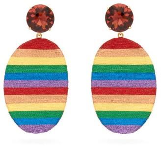 MaryJane Claverol Happy Zone Stripe Clip Earrings - Multi