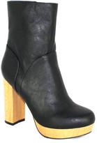 C Label Black Platform Ankle Boot