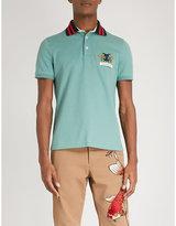 Gucci Animalium stretch-cotton polo shirt
