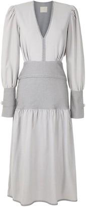 Framed Petit Bubbles midi dress