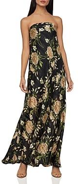 BCBGMAXAZRIA Garden Floral Strapless Maxi Dress