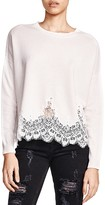 The Kooples Lace Trim Sweater