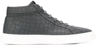 Hide&Jack croc-effect high-top sneakers