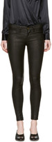 Frame Black Leather le Skinny De Jeanne Pants