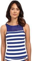 Lauren Ralph Lauren Balboa Stripe Boat Neck Tankini Top