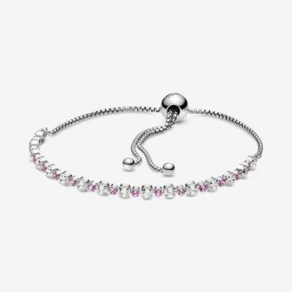 Pandora Pink & Clear Sparkle Slider Bracelet