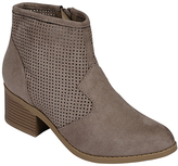 City Classified Taupe Weezie Ankle Boot