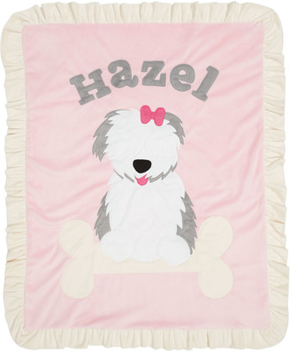Boogie Baby Personalized Puppy Love Plush Blanket, Pink