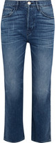 3x1 W4 Shelter Austin Cropped High-rise Straight-leg Jeans - Mid denim