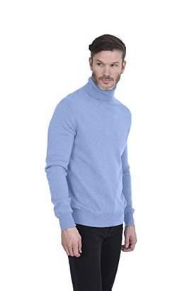 Cashmeren Men's Basic Turtleneck Pullover 100% Pure Cashmere Long Sleeve Roll Neck Sweater (