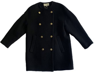 Vanessa Bruno Black Wool Coat for Women