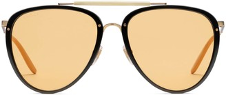 Gucci Aviator acetate and metal sunglasses