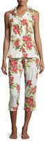 BedHead Coral Hibiscus Printed Pajama Set