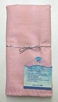 NuAngel Receiving Blanket - 100% Cotton Flannel - Pink Gingham