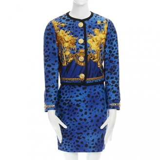 Gianni Versace Blue Wool Dress for Women Vintage