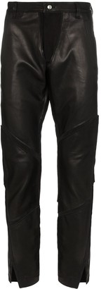Sulvam Leather-Panelled Trousers