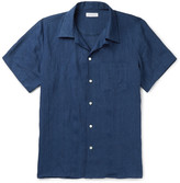 Richard James Camp-Collar Linen Shirt