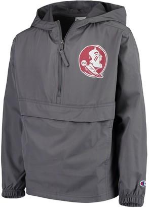 Champion Youth Graphite Florida State Seminoles Pack & Go Windbreaker Jacket