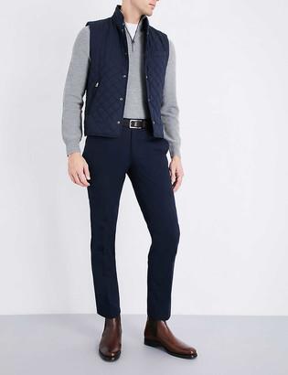 Ralph Lauren Purple Label Half-zip wool and cashmere-blend jumper