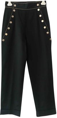 Olympia Le-Tan Olympia Le Tan Black Cotton Trousers