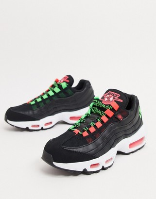 Nike 95 sneakers in black and green