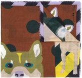 Odeeh wolf print scarf - women - Wool - One Size