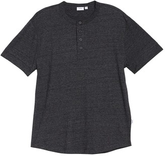 Onia Ivan Heathered Short Sleeve Henley T-Shirt