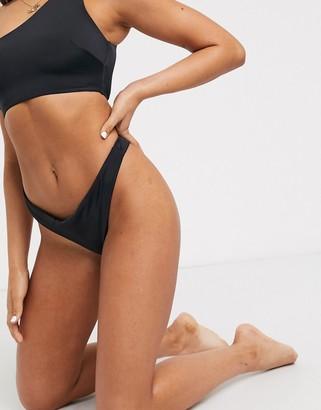 Asos Design DESIGN recycled mix and match thong bikini bottom in black