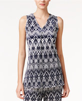Alfani Printed High-Low Tunic, Only at Macy's