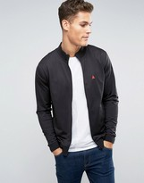 Asos Jersey Track Jacket In Black With Logo
