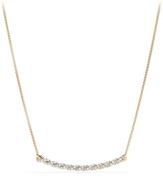 David Yurman Paveflex 18K Gold & Diamond Station Necklace