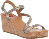 Rocket Dog Silver El Dora Disco Derby Wedge Sandal