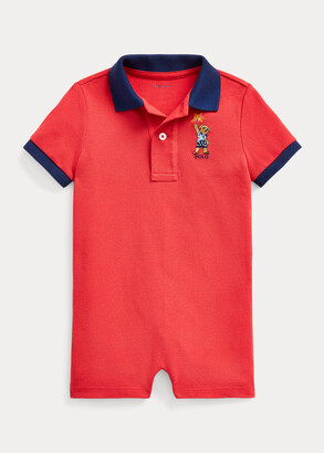 Ralph Lauren Sparkler Bear Cotton Shortall