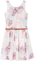 GUESS Belted Floral Dress, Big Girls (7-16)