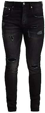 Purple Brand Men's P002 Slim Dropped Fit Ankle Zip Jeans