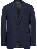 Brioni Blue Slim-fit Satin-piped Silk Tuxedo Jacket