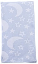 Kissy Kissy Blue Knitted Moon And Star Blanket