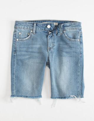 Tractr 5 Pocket Basic Bermuda Girls Denim Shorts