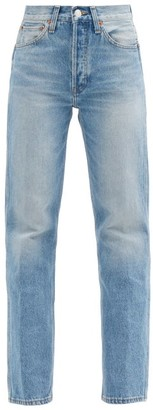 RE/DONE 90s High-rise Straight-leg Jeans - Denim