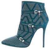 Cesare Paciotti Suede Pointed-Toe Ankle Boots