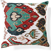 Noble Excellence Ikat-Embroidered Oversized Square Pillow