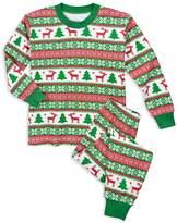 Sara's Prints Unisex Fair IslePrint Holiday Pajama Set