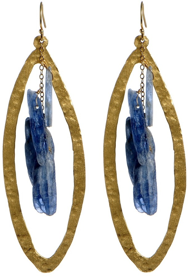 Wendy Mink Lapis Dagger Earrings