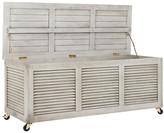 One Kings Lane Adelaide Outdoor Storage Box - Gray - frame, gray; hardware, silver/brass
