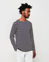 Armor Lux Classic Long Sleeve T-Shirt Navy & Off White