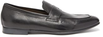 Dunhill Engine Turn Leather Penny Loafers - Mens - Black