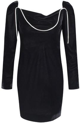 Rue Agthonis Black Silk & Diamond Draped Dress